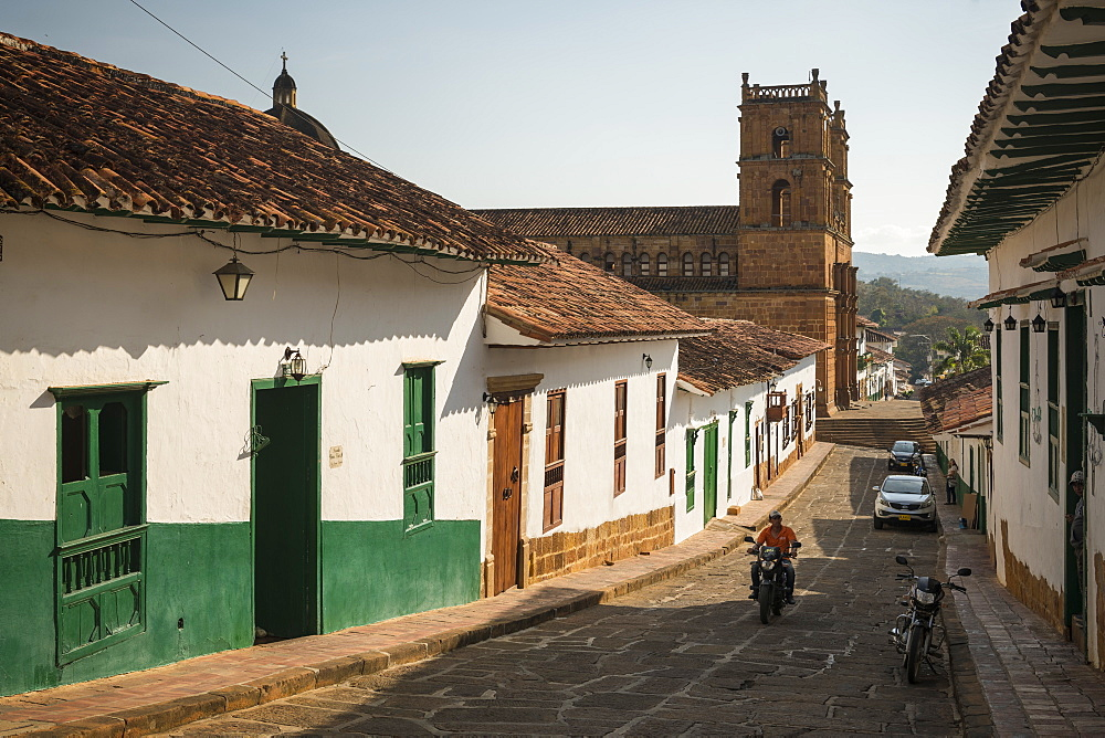Street scene, Barichara, Santander, Colombia, South America
