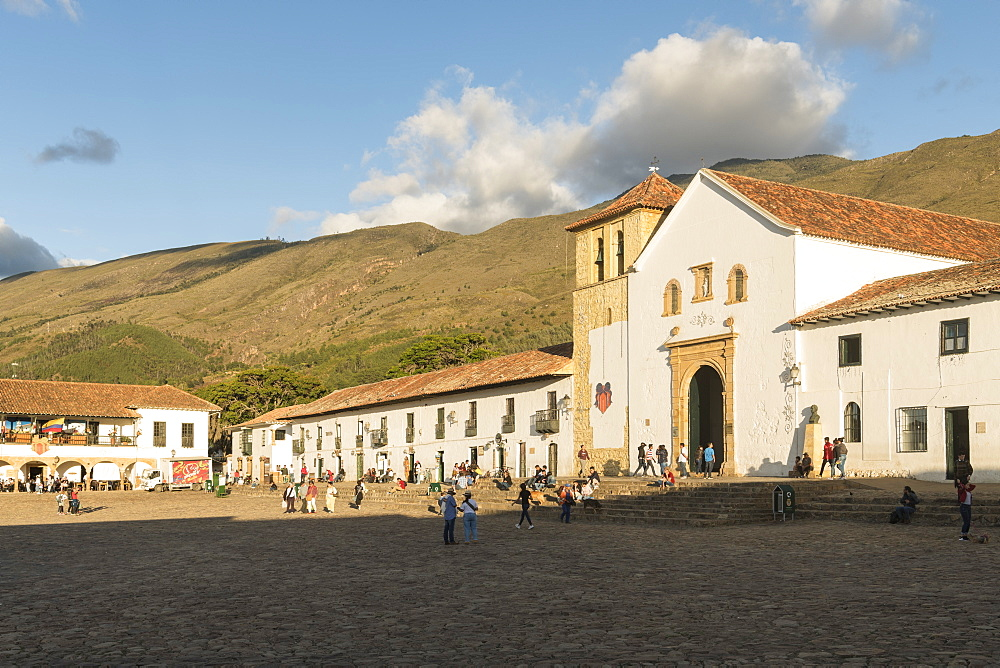 Plaza Mayor, Villa de Leyva, Boyaca, Colombia, South America - 848-2160