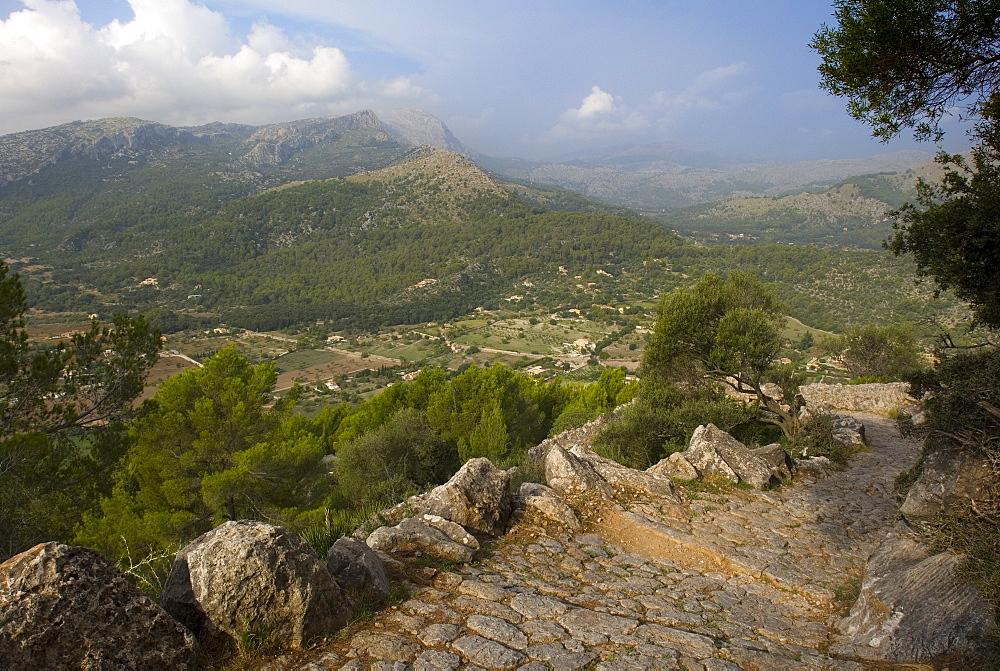 View from Puig de Maria, Monastir De Lluc, Mallorca, Balearic Islands, Spain, Europe