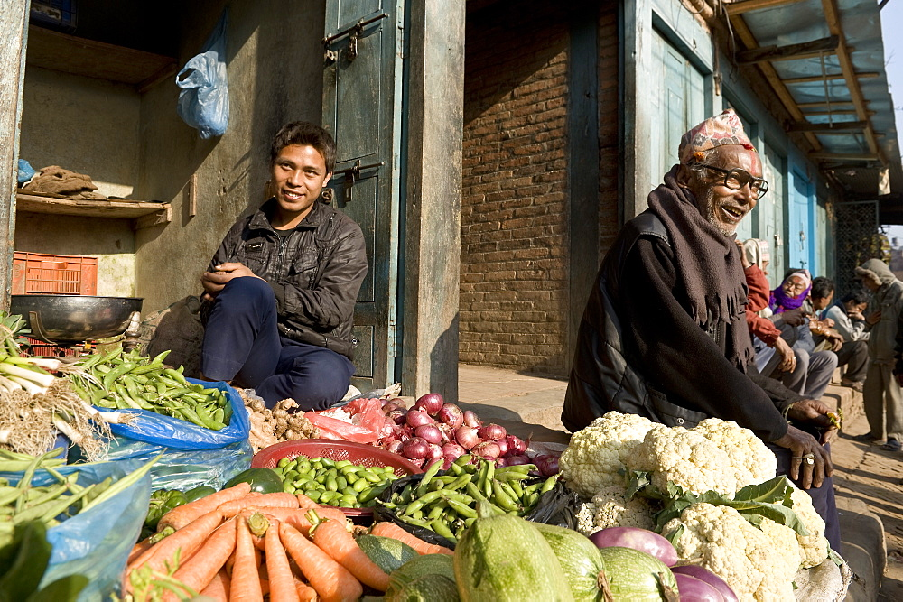 Market stall, Bhaktapur, Nepal, Asia
