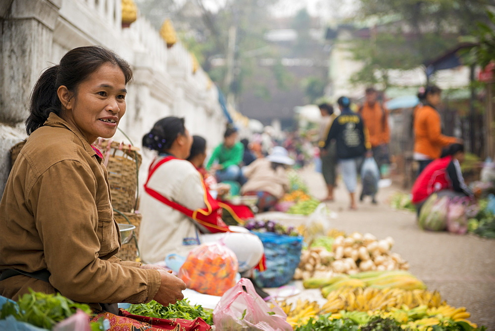 Morning Market, Luang Prabang, Laos, Indochina, Southeast Asia, Asia