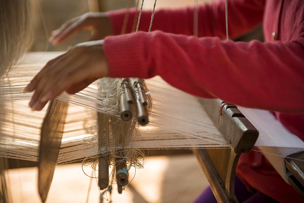 Weaving Village of Ban Phanom, Luang Prabang, Laos, Indochina, Southeast Asia, Asia