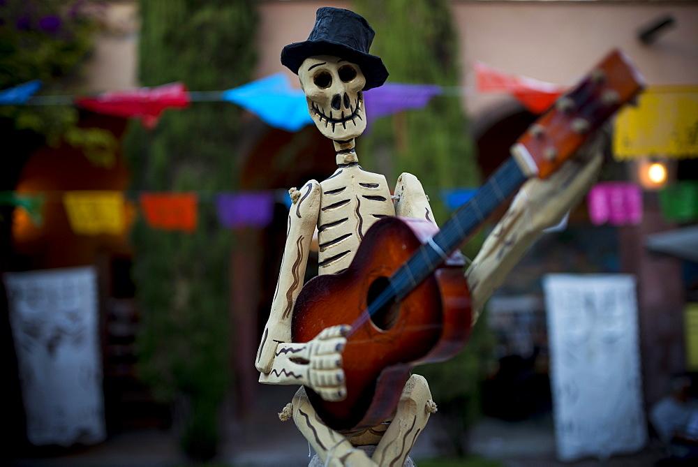 Dia de los Muertos (Day of the Dead) souvenirs, San Miguel de Allende, Guanajuato, Mexico, North America - 848-660