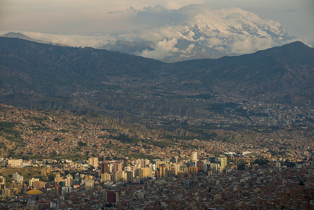 View of La Paz from El Alto, La Paz, Bolivia, South America