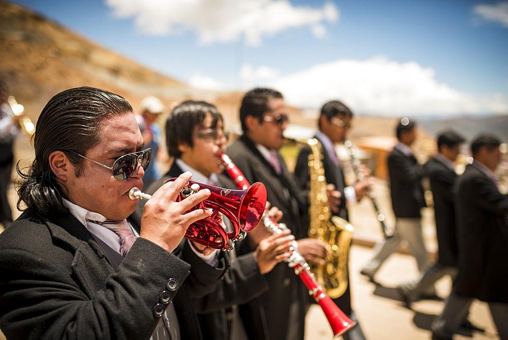 Processions during The Miners Carnival, Cerro Rico, Potosi, Southern Altiplano, Bolivia, South America