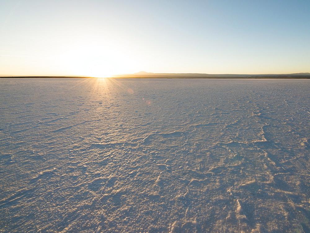 Sunset at The Laguna Salada, Salar de Atacama, El Norte Grande, Chile, South America
