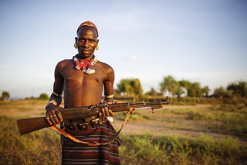 Portrait of Shada, Hamar Tribe, Omo Valley, Ethiopia, Africa