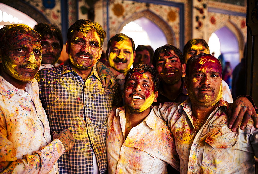 Lathmar Holi Celebrations in Nand Rae Temple, Nandagaon, Braj, Uttar Pradesh, India, Asia - 848-896