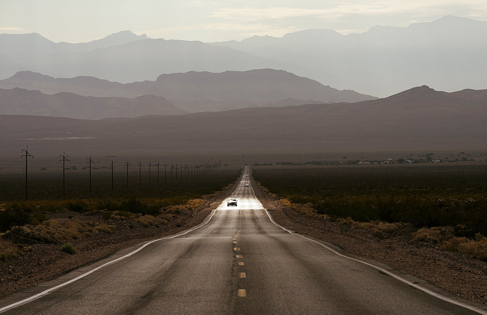 Highway 190 through Death Valley National Park, California, United States of America, North America - 848-995