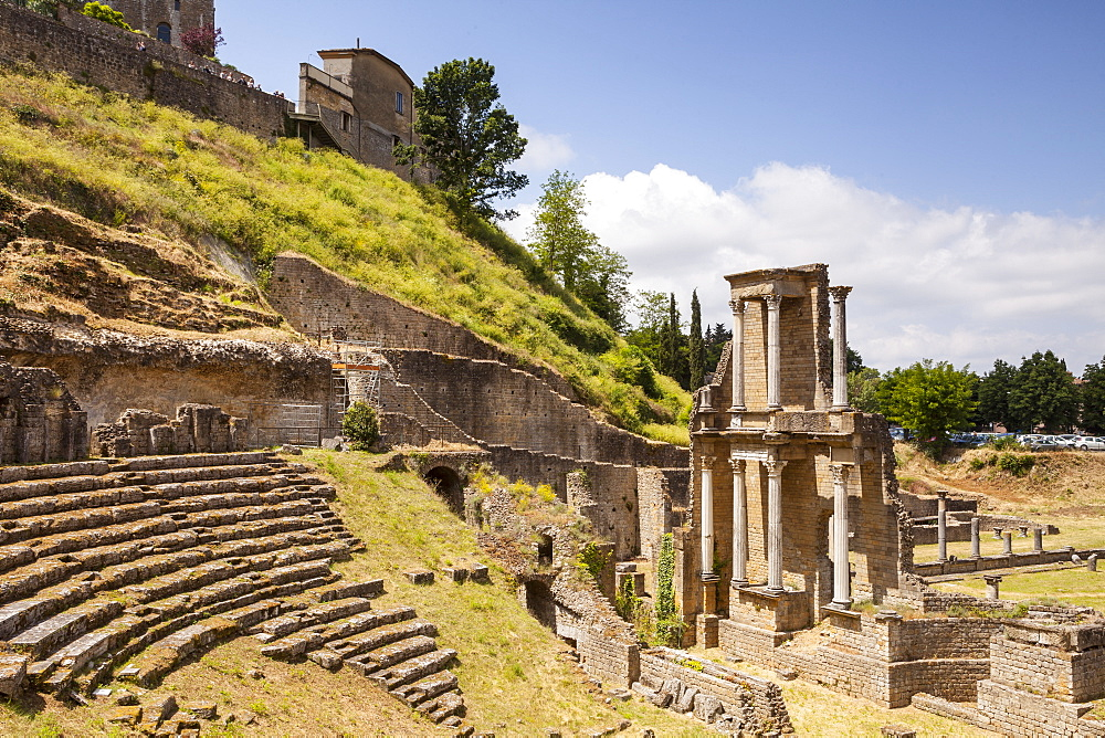 The Roman theatre dating from the 1st century, Volterra, Tuscany, Italy, Europe