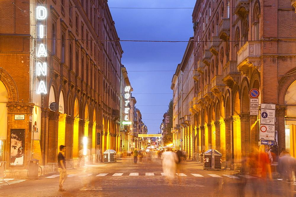Via dell'Indipendenza in Bologna, Emilia-Romagna, Italy, Europe