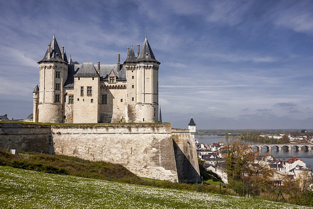 The chateau of Saumur, Maine et Loire, France, Europe