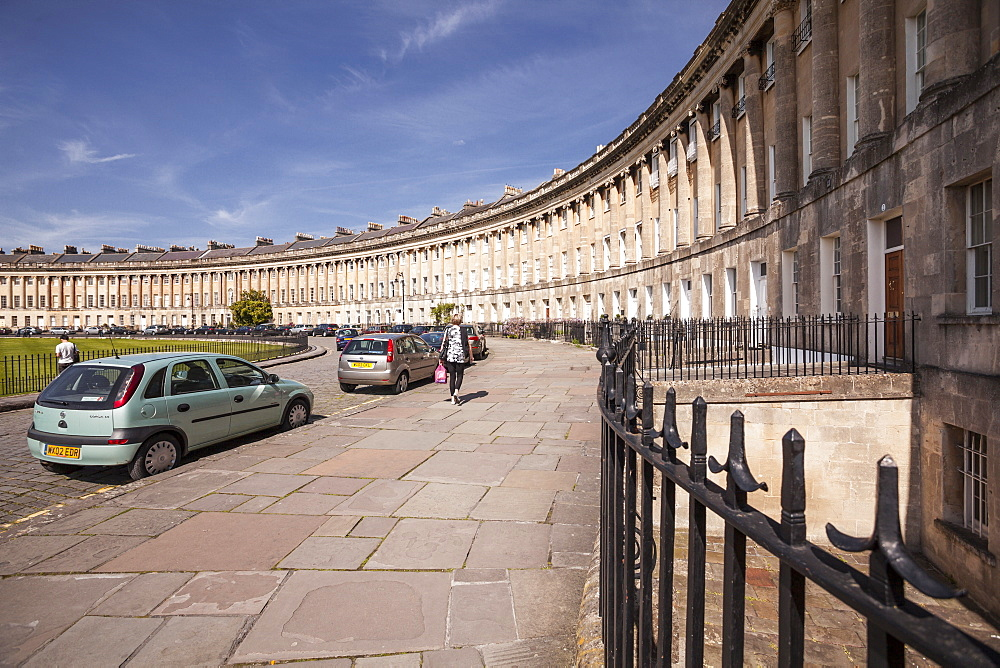 The Royal Crescent, Bath, UNESCO World Heritage Site, Avon, England, United Kingdom, Europe
