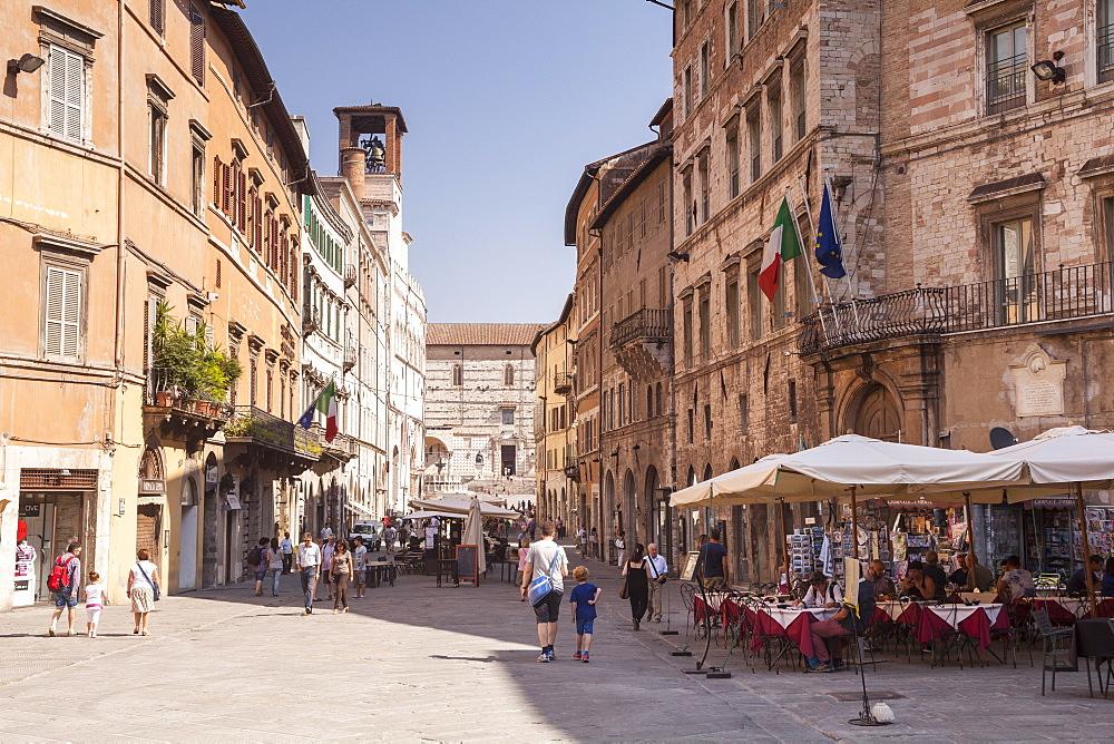 Corso Pietro Vannucci in Perugia, Umbria, Italy, Europe