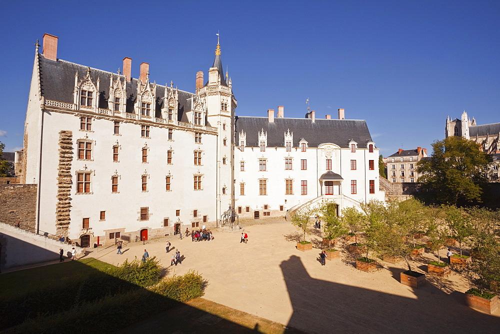 The Chateau des ducs de Bretagne in the city of Nantes, Loire-Atlantique, France, Europe