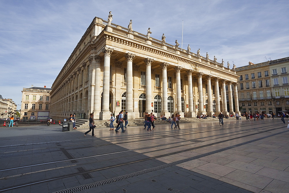 The Grand Theatre de Bordeaux, Bordeaux, Gironde, Aquitaine, France, Europe