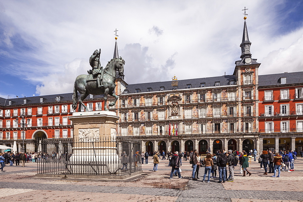 Plaza Mayor in Madrid, Spain, Europe
