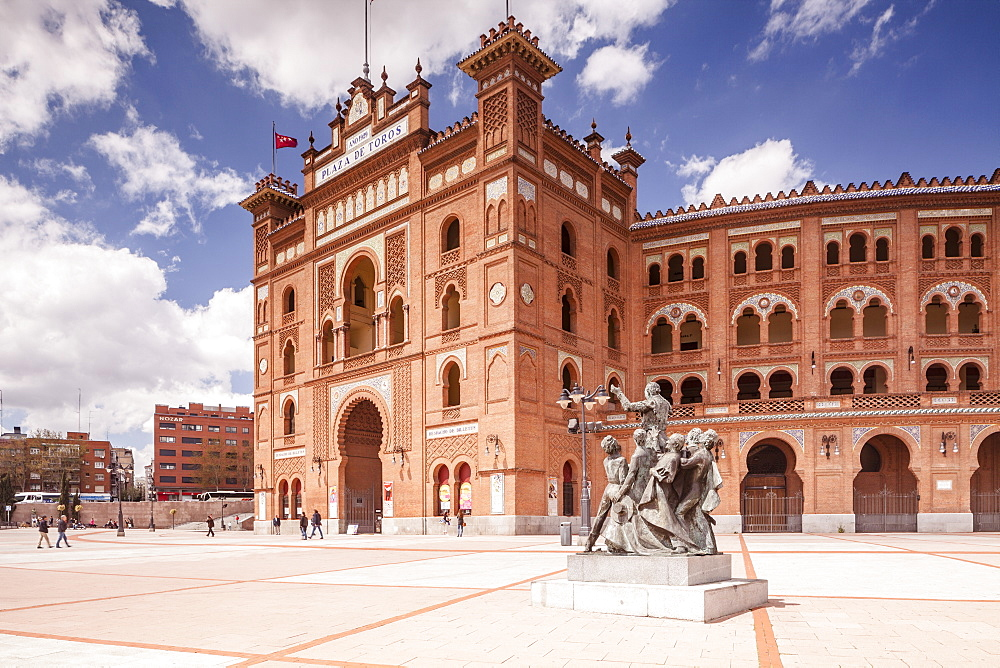 The Plaza de Toros de Las Ventas (Bull Ring), mainly used for bullfighting, built in 1929, Madrid, Spain, Europe