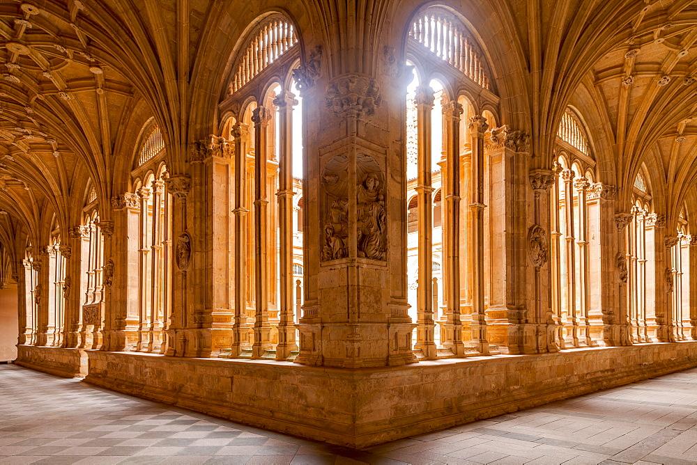 The cloister of Convento de San Esteban in Salamanca, Castile and Leon, Spain, Europe