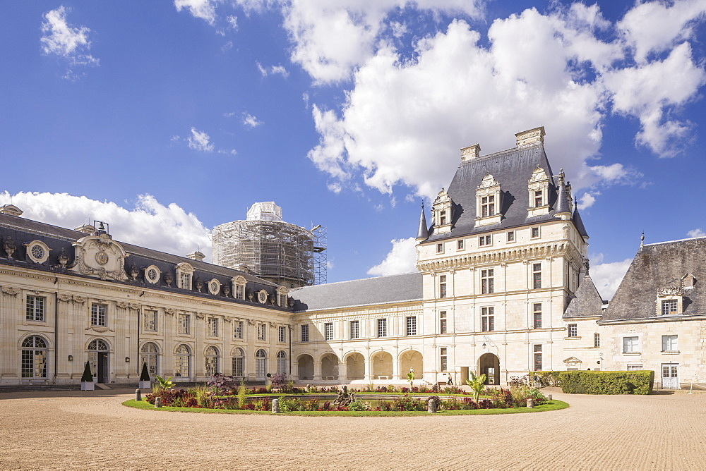 Chateau de Valencay in the Loire Valley, France. Dating from 1540, the Chateau de Valencay was built on the behest of Jacques d