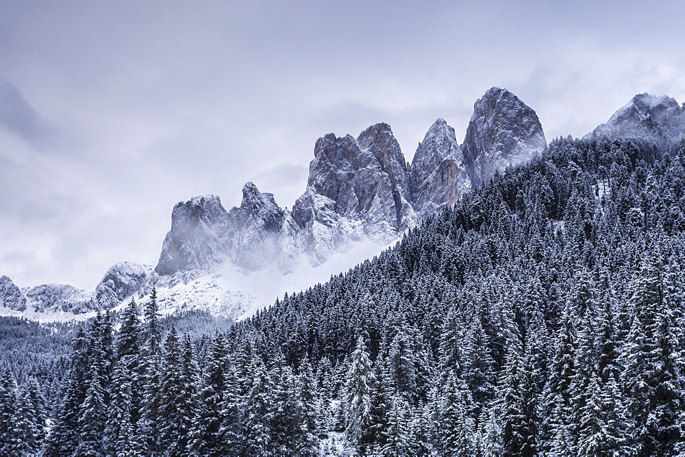 The Odle Mountains in the Val di Funes, Dolomites, Italy - 849-1686