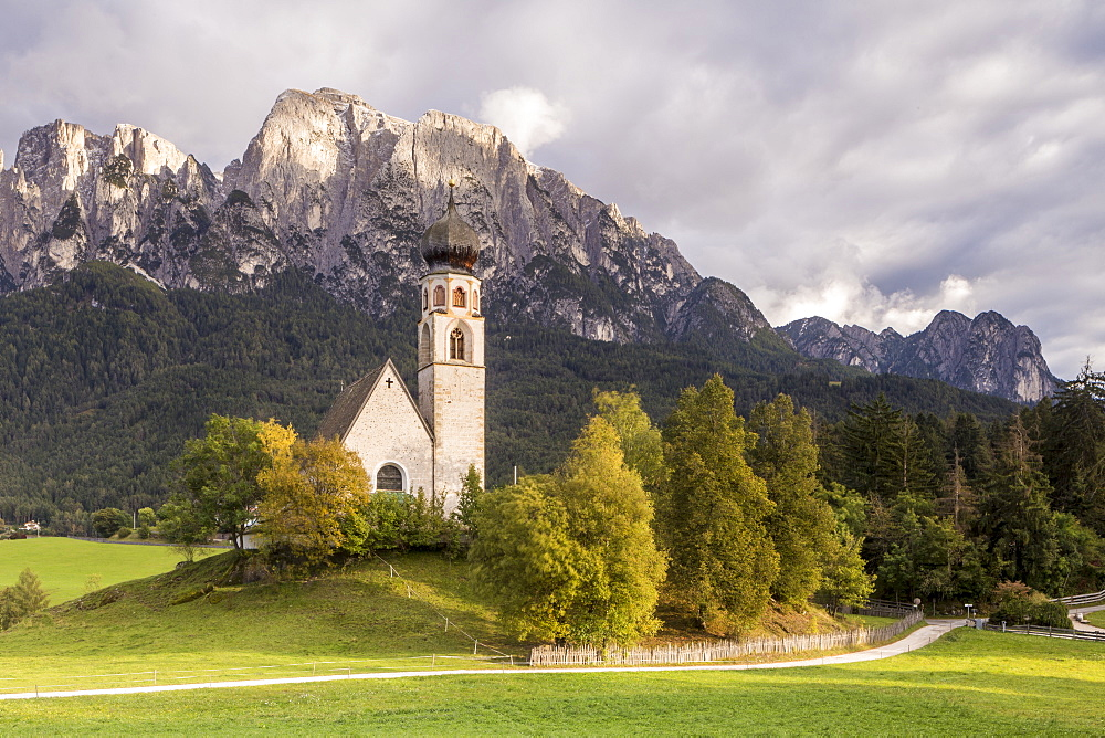 The church of San Costantino in the Dolomits, Italy. - 849-1688
