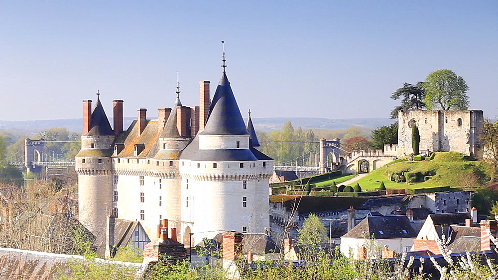 The chateau de Langeais in the Loire Valley, Indre-et-Loire, Centre, France, Europe - 849-1716
