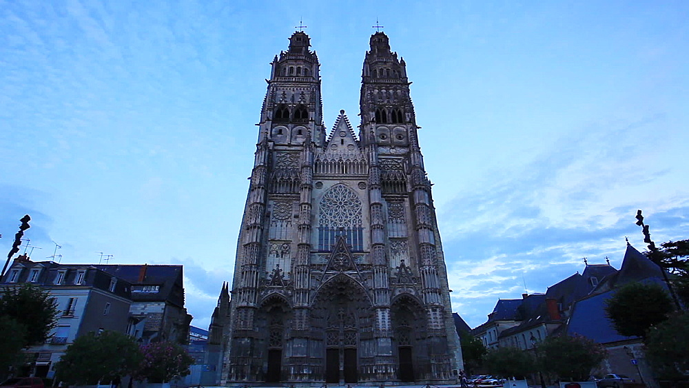 Saint Gatien Cathedral, Tours, Indre-et-Loire, Loire Valley, Centre, France, Europe - 849-1724