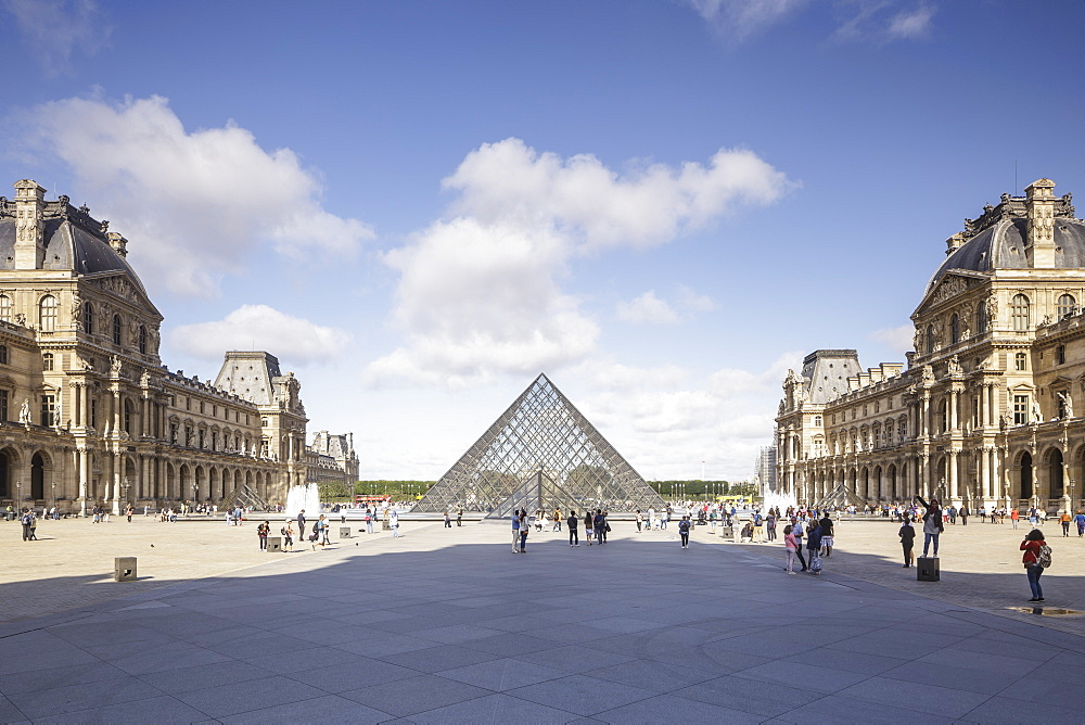 The Musee du Louvre in Paris, France, Europe - 849-1753