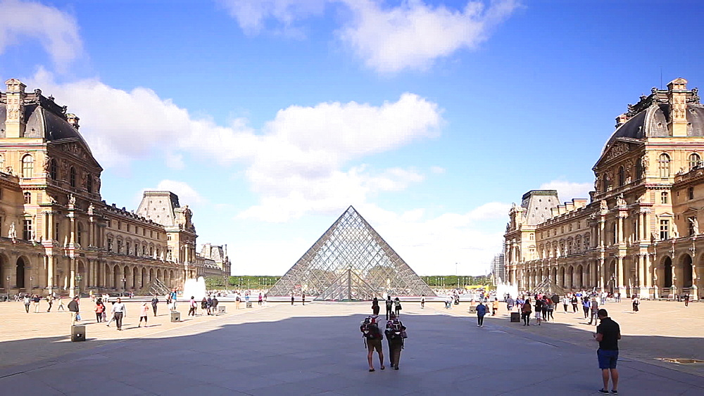 The Musee du Louvre, Paris, France, Europe - 849-1759