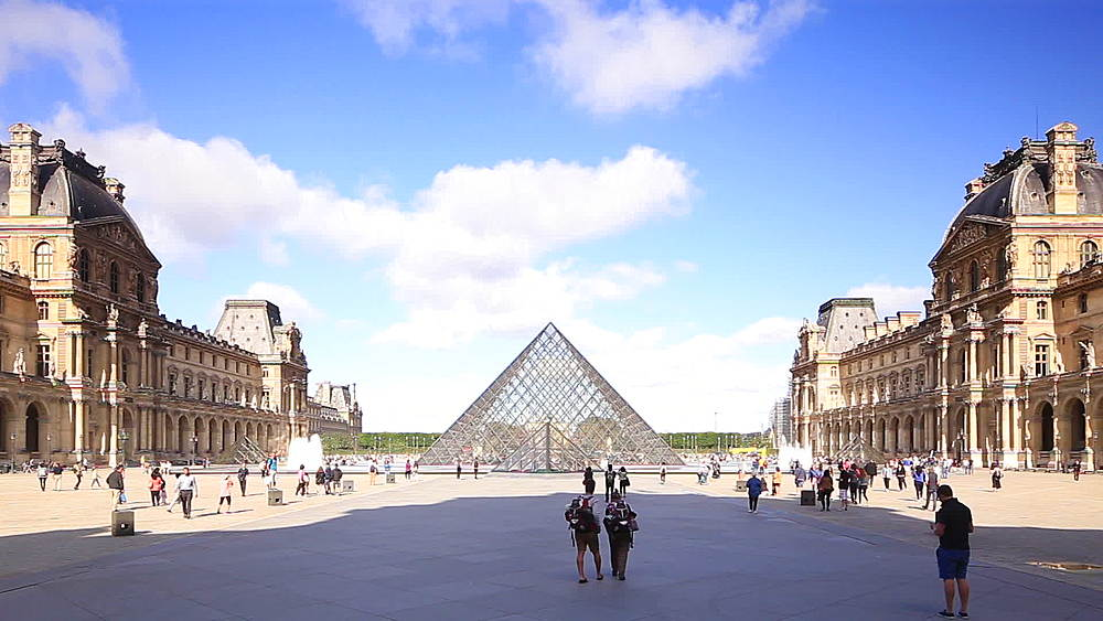 The Musee du Louvre, Paris, France, Europe - 849-1764