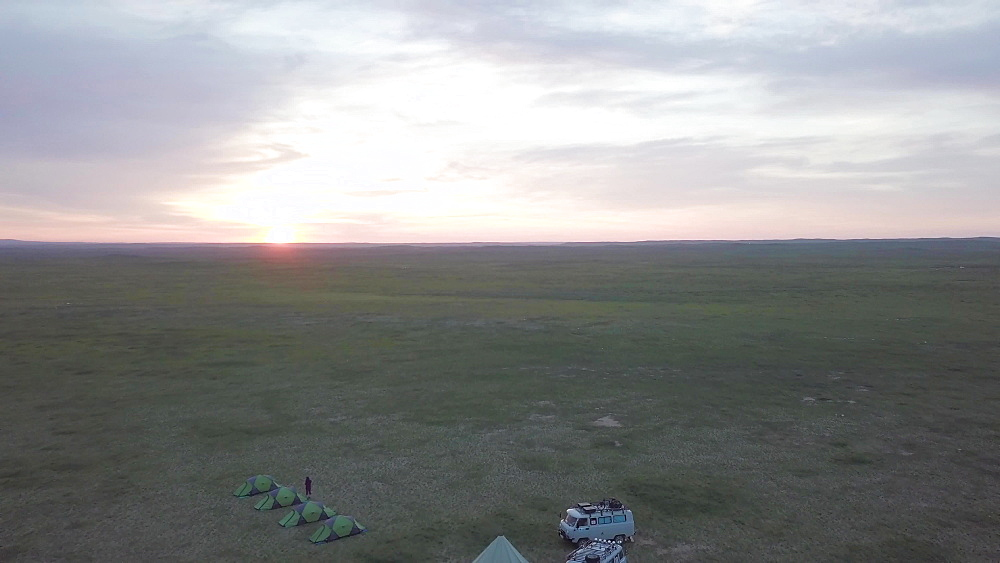 Aerial of Ikh Nart nature reserve in Mongolia - 849-1809