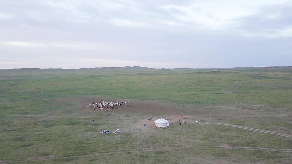 Aerial of Ikh Nart nature reserve in Mongolia - 849-1810