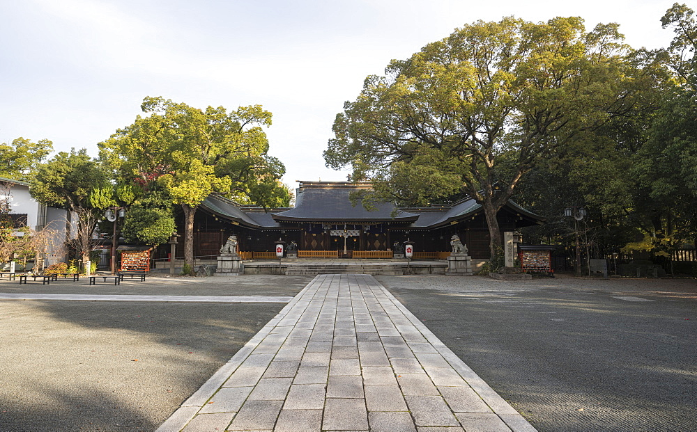Hyogoken Himeji Gokoku Shrine in Himeji, Japan.