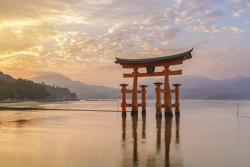 The great Torii of Itsukushima Shrine, Miyajima, Japan