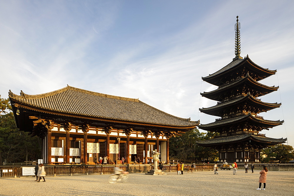The five storey pagoda of Kofuku-ji Temple, UNESCO World Heritage Site, Nara, Japan, Asia