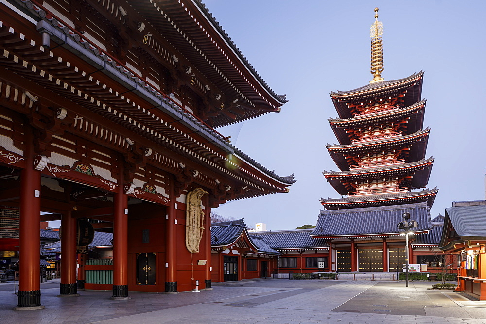 Senso-ji Temple, an ancient Buddhist temple in the Asakusa district, Tokyo, Japan, Asia