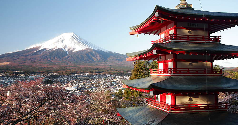 Chureito Pagoda and Mount Fuji in Japan - 849-1927