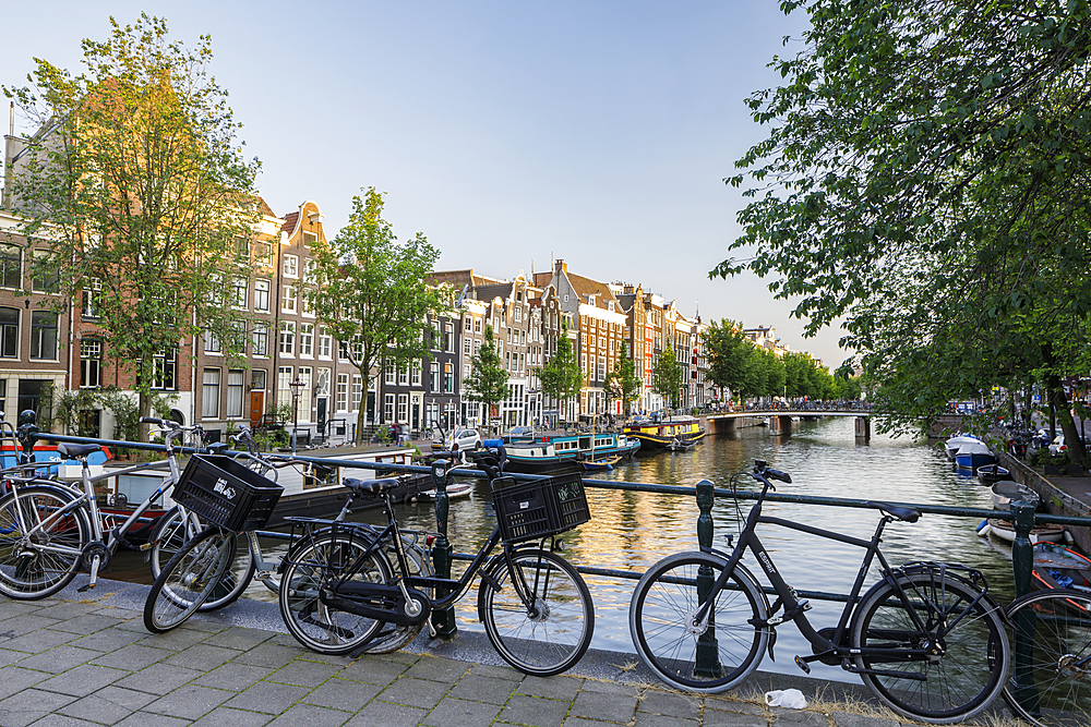 The Keizersgracht Canal in Amsterdam, North Holland, The Netherlands, Europe - 849-1931