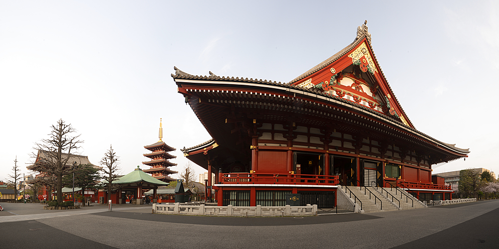 Senso-ji temple, an ancient Buddhist temple in the Asakusa district of Tokyo, Japan, Asia