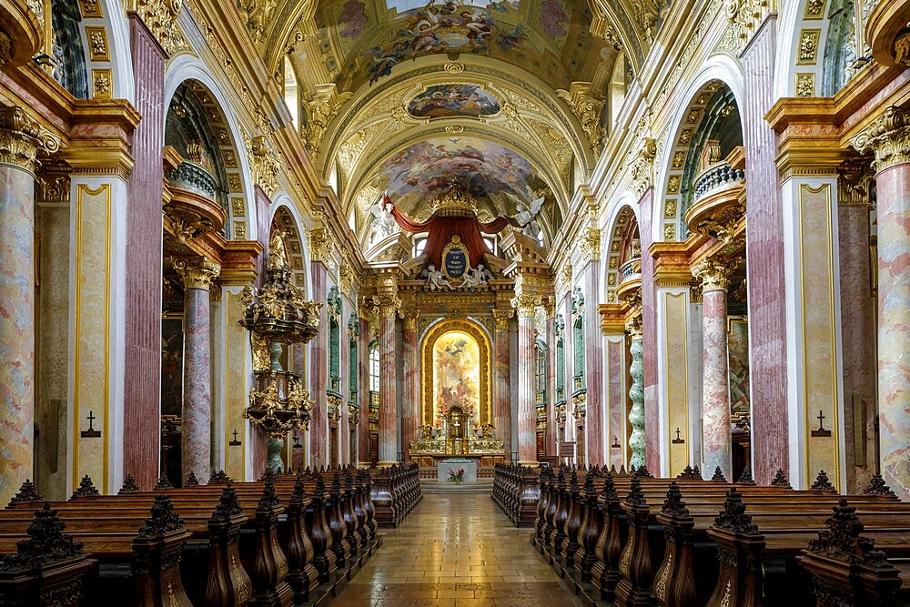 The interior of Jesuit Church in Vienna, Austria, Europe - 849-2020