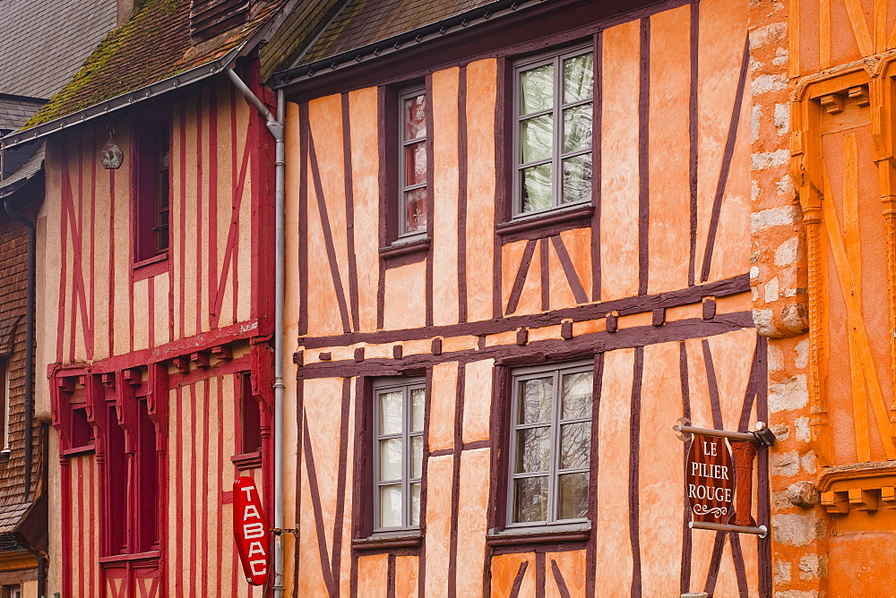 Half timbered houses in the old town of Le Mans, Sarthe, Pays de la Loire, France, Europe