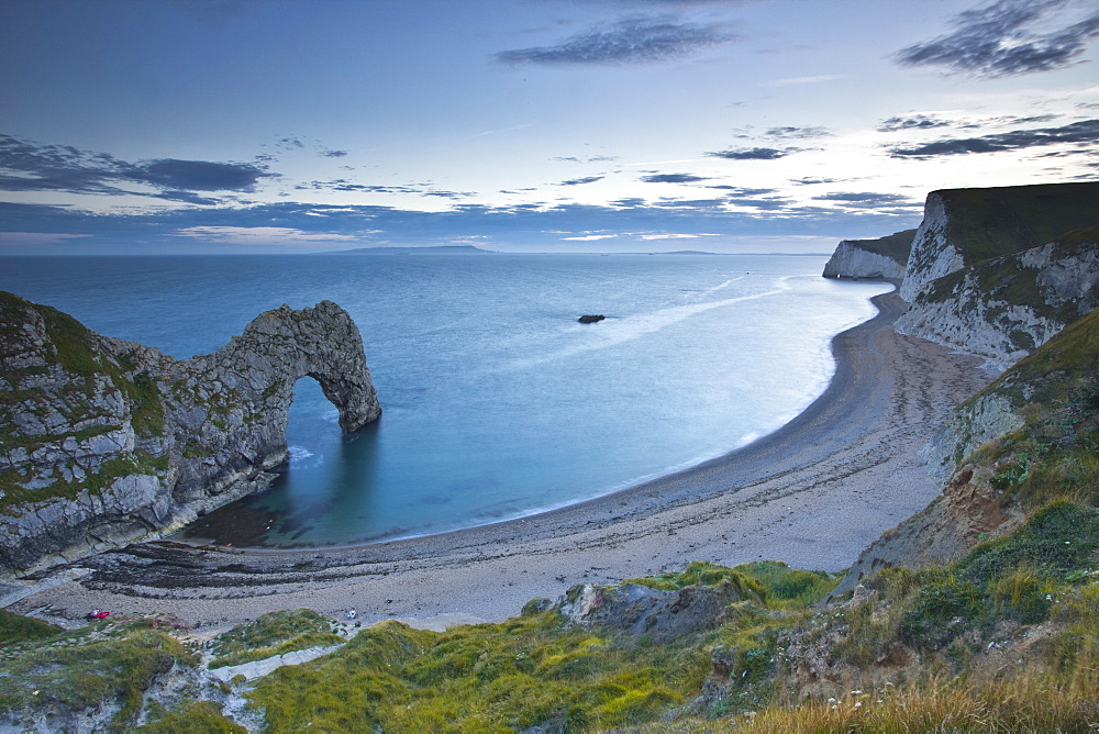 Durdle Door and Bat's Head, Dorset, Jurassic Coast, UNESCO World Heritage Site, England, United Kingdom, Europe