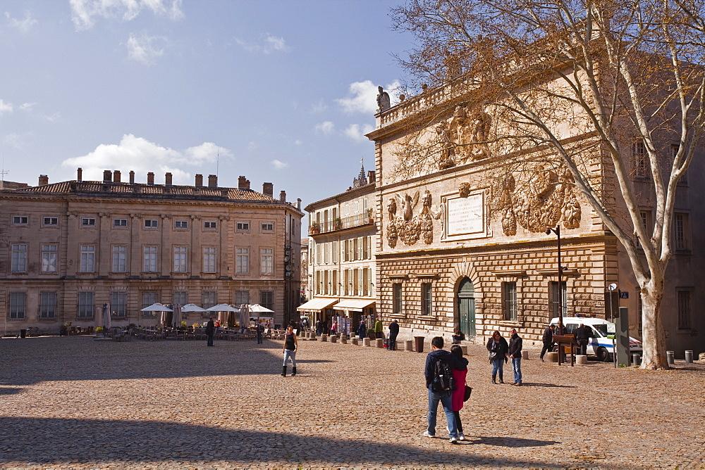 Place du Palais des Papes, Avignon, Vaucluse, France, Europe