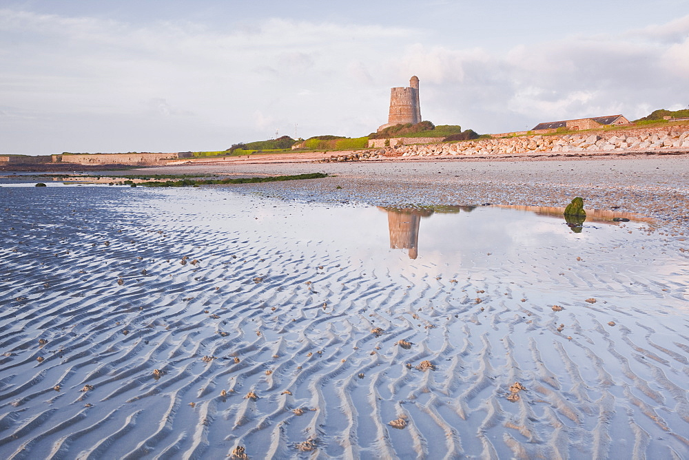 La Hougue tower in Saint Vaast La Hougue, under the protection of UNESCO, Manche, France, Europe