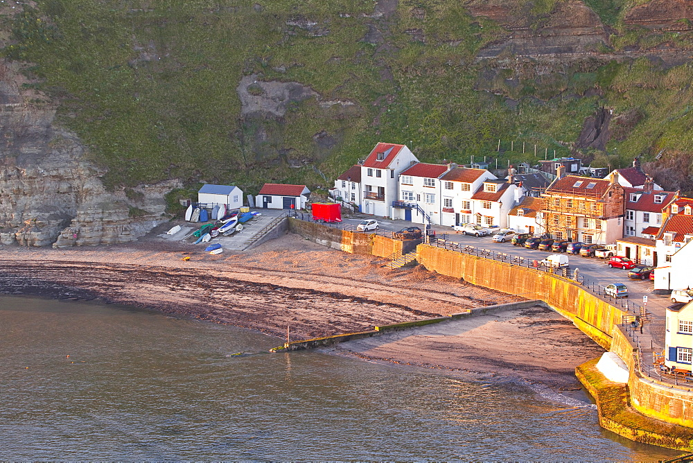 The fishing village of Staithes in the North York Moors, Yorkshire, England, United Kingdom, Europe