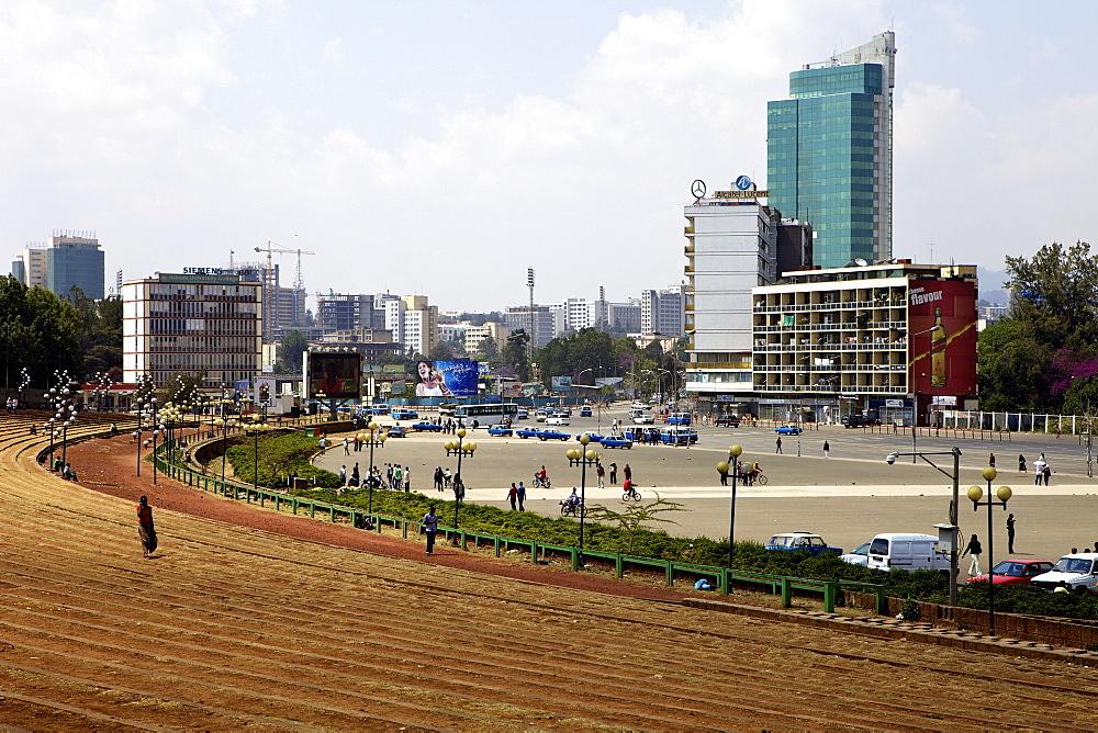 Meskal Square, Addis Ababa, Ethiopia, Africa