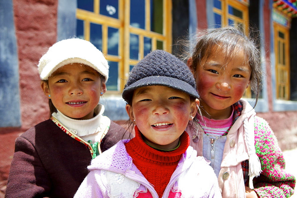 Tibetan children, Tibet, China, Asia