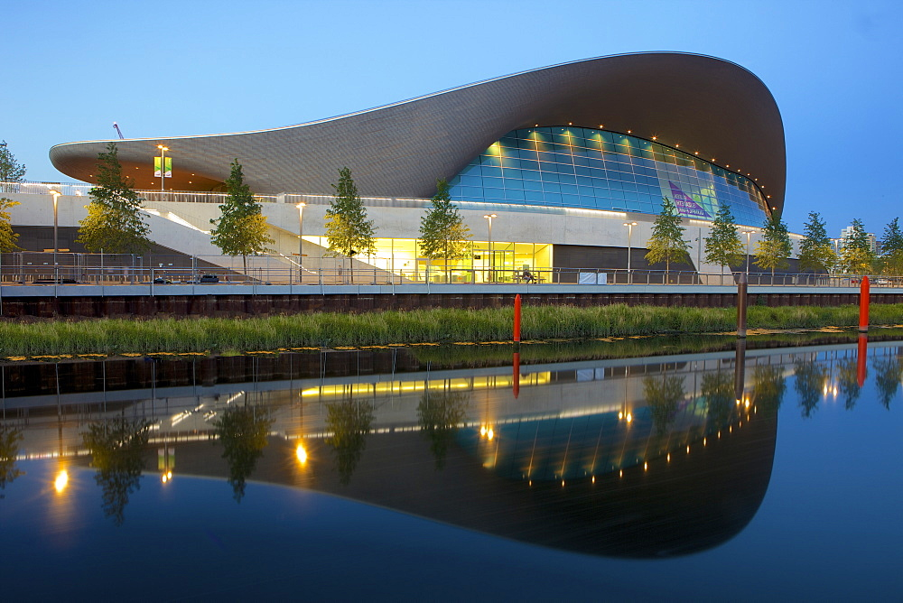 Aquatics Centre in the 2012 London Olympic Park, Stratford, London, England, United Kingdom, Europe - 851-556