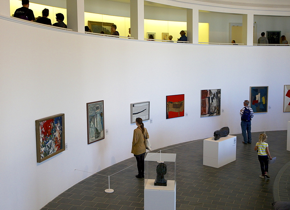 Interior of the Tate Gallery in St. Ives, Cornwall, England, United Kingdom, Europe - 851-562